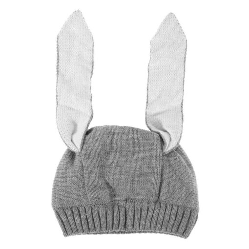 Baby Hat Autumn Winter Toddler Knitted Hats For Kids Girls Rabbit Long Ear Hat Baby Bunny 4