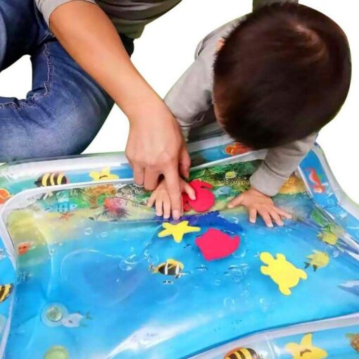 Baby Infant Inflatable Cartoon Pattern Water Play Mat Kids Fun Activity Play Center PVC Water Filled 1
