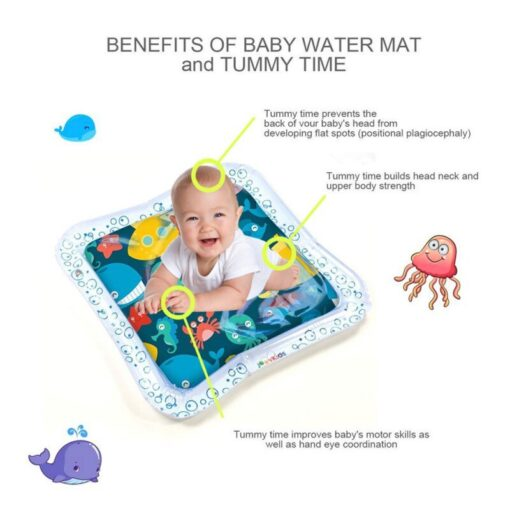 Baby Infant Inflatable Cartoon Pattern Water Play Mat Kids Fun Activity Play Center PVC Water Filled 2