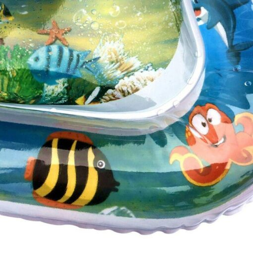 Baby Infant Inflatable Cartoon Pattern Water Play Mat Kids Fun Activity Play Center PVC Water Filled 4
