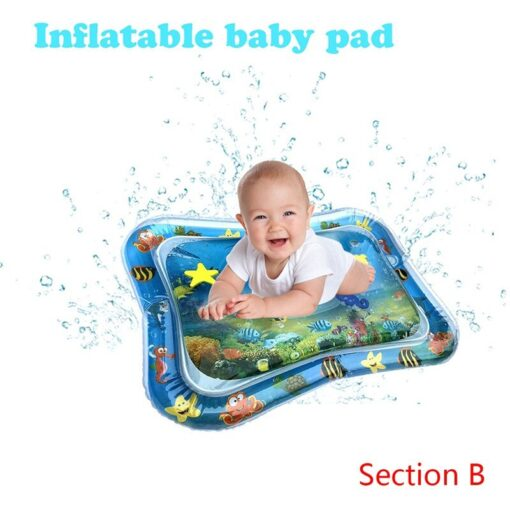 Baby Infant Inflatable Cartoon Pattern Water Play Mat Kids Fun Activity Play Center PVC Water Filled 5
