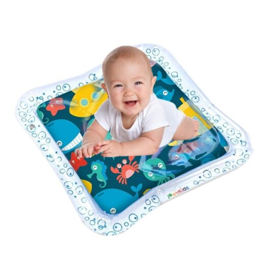 Baby Infant Inflatable Cartoon Pattern Water Play Mat Kids Fun Activity Play Center PVC Water Filled