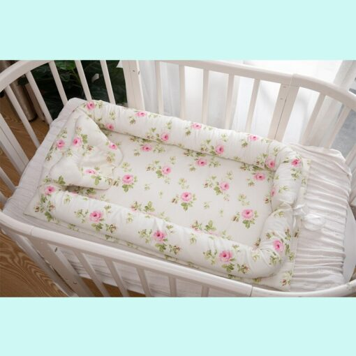 Baby Inner Baby Crib Bed 90 55cm Infant Nest Bed Portable Crib Travel Bed Cotton for 1