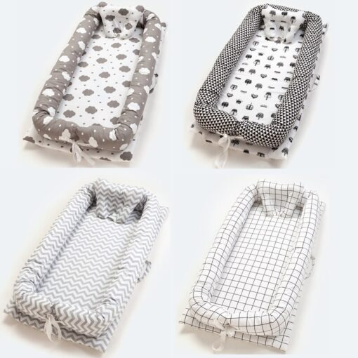 Baby Inner Baby Crib Bed 90 55cm Infant Nest Bed Portable Crib Travel Bed Cotton for 5