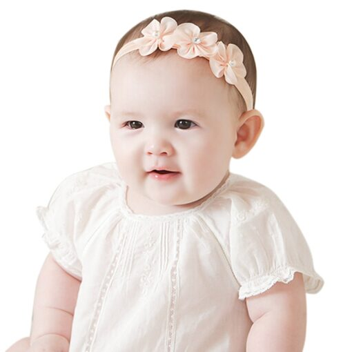 Baby Kid Girls Princess Crystal Headbands Flowers Elastic Hairband Elastic Hair Bands Head Wrap Baby Hair 3