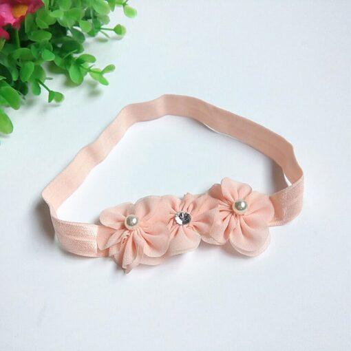 Baby Kid Girls Princess Crystal Headbands Flowers Elastic Hairband Elastic Hair Bands Head Wrap Baby Hair 4