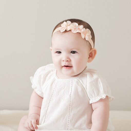 Baby Kid Girls Princess Crystal Headbands Flowers Elastic Hairband Elastic Hair Bands Head Wrap Baby Hair 5