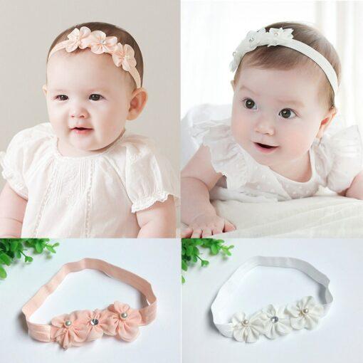 Baby Kid Girls Princess Crystal Headbands Flowers Elastic Hairband Elastic Hair Bands Head Wrap Baby Hair