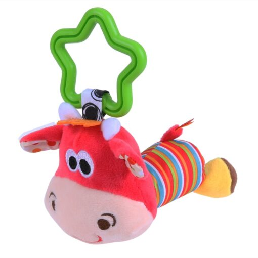 Baby Kids Crib Rattle Toys Tinkle Hand Bell Grasping Stuffed Plush Bed Stroller Hanging Toy Kawaii 2