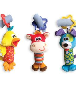Baby Kids Rattle Toys Cartoon Animal Plush Hand Bell Baby Stroller Crib Hanging Rattles Infant Baby 2