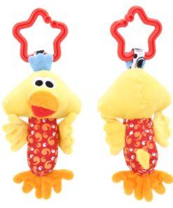 Baby Kids Rattle Toys Cartoon Animal Plush Hand Bell Baby Stroller Crib Hanging Rattles Infant Baby 3