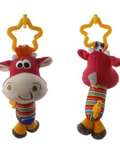 Baby Kids Rattle Toys Cartoon Animal Plush Hand Bell Baby Stroller Crib Hanging Rattles Infant Baby 5
