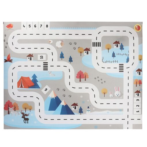 Baby Kids Toys Kids Play Mat City Road Buildings Parking Map Game Scene Map Educational Toys 6