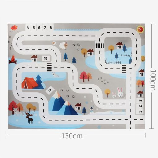 Baby Kids Toys Kids Play Mat City Road Buildings Parking Map Game Scene Map Educational Toys 7