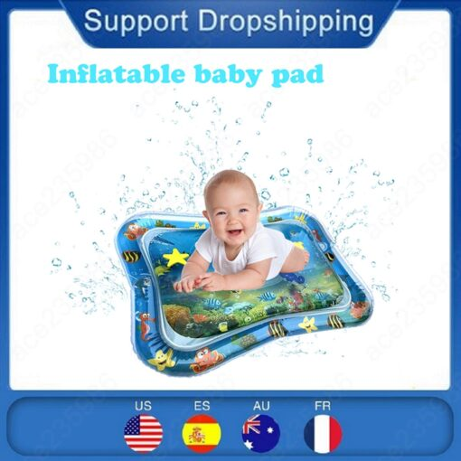 Baby Kids Water Play Mat Activity inflatable Water Mat for Babies Cushion Mat Early Education Toys