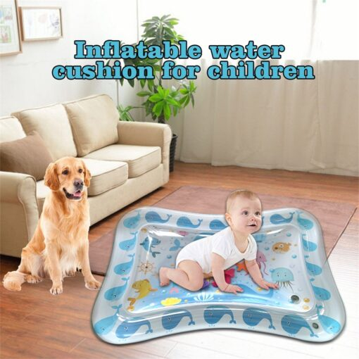 Baby Kids Water Play Mat Inflatable Infants Tummy Time Playmat Toys for Children Summer Swimming Beach 1