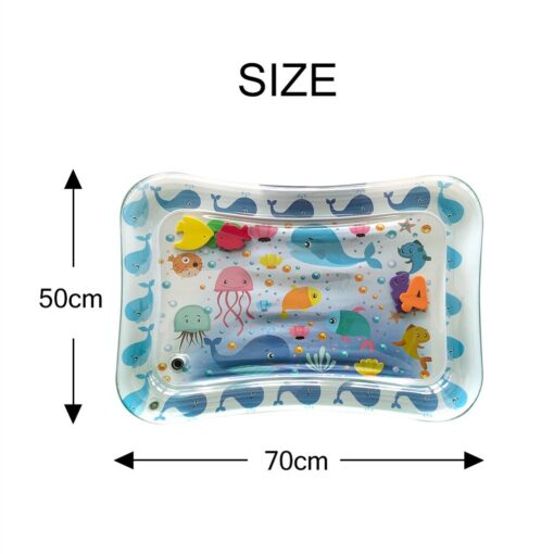 Baby Kids Water Play Mat Inflatable Infants Tummy Time Playmat Toys for Children Summer Swimming Beach 3