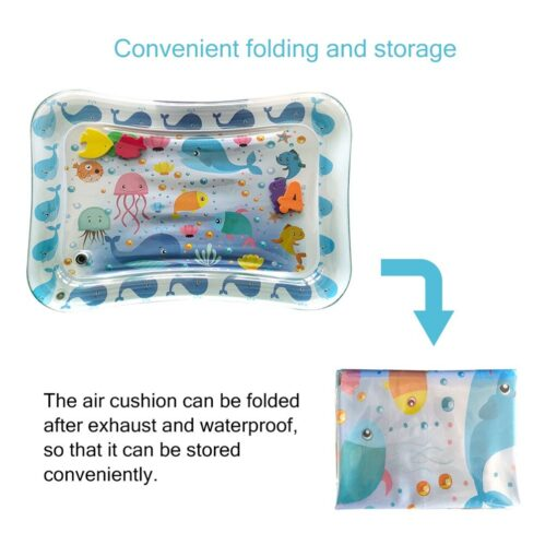 Baby Kids Water Play Mat Inflatable Infants Tummy Time Playmat Toys for Children Summer Swimming Beach 5