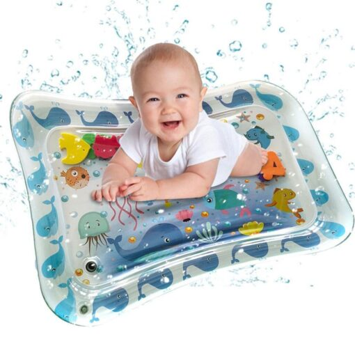 Baby Kids Water Play Mat Inflatable Infants Tummy Time Playmat Toys for Children Summer Swimming Beach