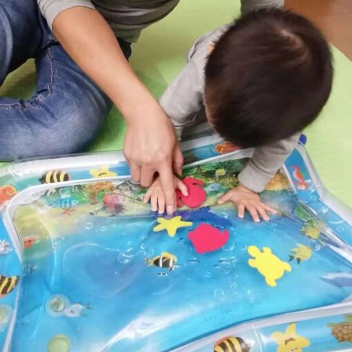 Baby Kids Water Play Mat Toys Inflatable thicken PVC infant Tummy Time Playmat Toddler Activity Play 2