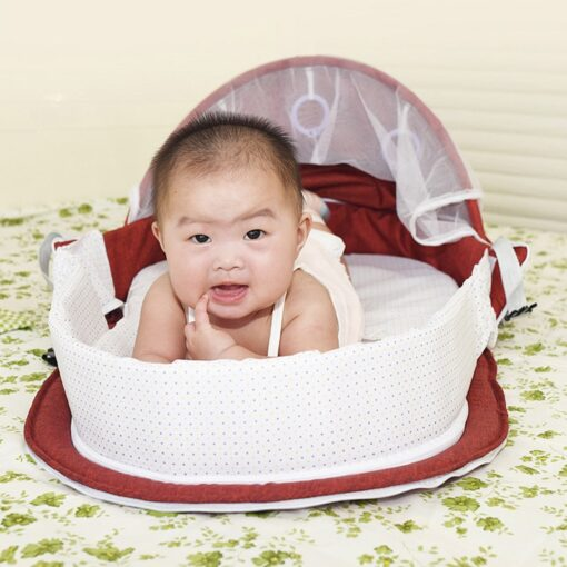 Baby Nest Portable Travel Baby Cribs Toddler Multi function Folding Bed Folding Chair 2019 Hot Sale 2