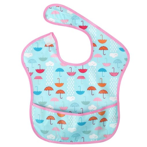 Baby Newborn Kid Infants Waterproof Stain Resistant Baby Bibs With Pocket Saliva Towel Baby Feeding Bib 2