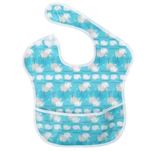Baby Newborn Kid Infants Waterproof Stain Resistant Baby Bibs With Pocket Saliva Towel Baby Feeding Bib 4