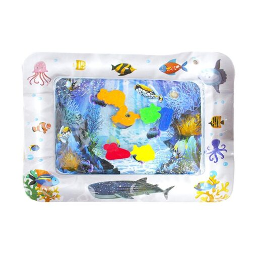 Baby Pets Water Play Mats Inflatable Infants Tummy Time Playmat Toys Fun Activity Carpet Hand eye
