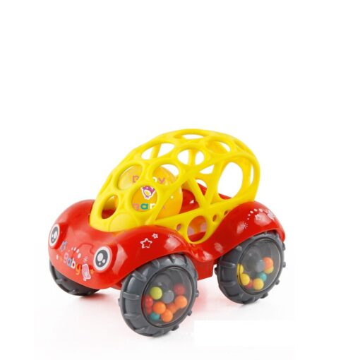 Baby Plastic Non toxic Colorful Animals Hand Jingle Shaking Bell Car Rattles Toys Music Handbell for 2