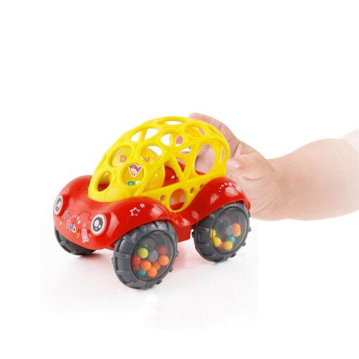 Baby Plastic Non toxic Colorful Animals Hand Jingle Shaking Bell Car Rattles Toys Music Handbell for 4
