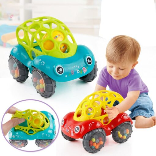 Baby Plastic Non toxic Colorful Animals Hand Jingle Shaking Bell Car Rattles Toys Music Handbell for