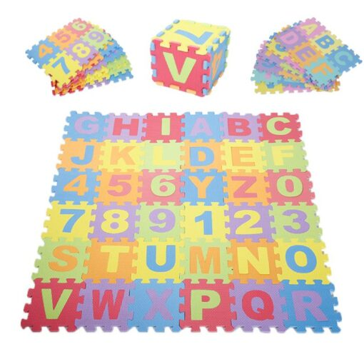 Baby Play Mat Crawling Mat EVA Foam Puzzle Rugs Toys Learning Numbers ABC Alphabet Mat Floor 4