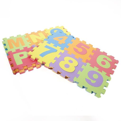 Baby Play Mat Crawling Mat EVA Foam Puzzle Rugs Toys Learning Numbers ABC Alphabet Mat Floor 5