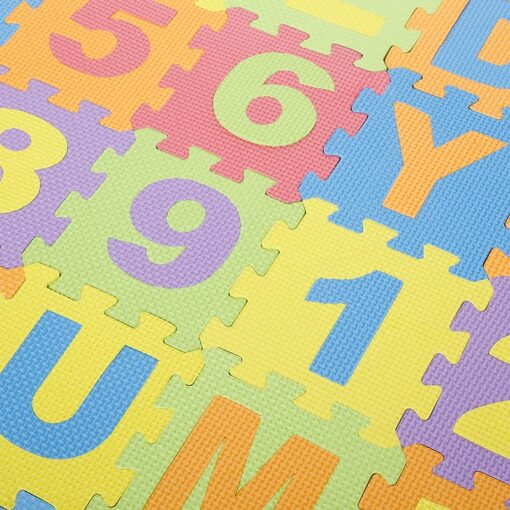 Baby Play Mat Crawling Mat EVA Foam Puzzle Rugs Toys Learning Numbers ABC Alphabet Mat Floor
