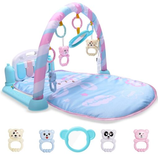 Baby Play Mat Kids Rug Educational blanket With Piano Keyboard And Cute Animal Playmat Baby Gym 3