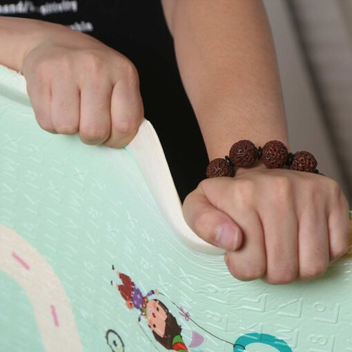 Baby Play Mat Waterproof XPE Soft Floor Playmat Foldable Crawling Carpet Kid Game Activity Rug Folding 3