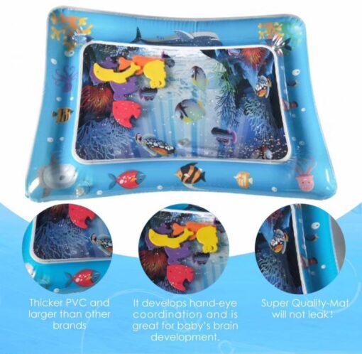 Baby Play Water Mat Inflatable Water Play Mat Infants Toddlers Fun Summer Time Play Activity Center 2