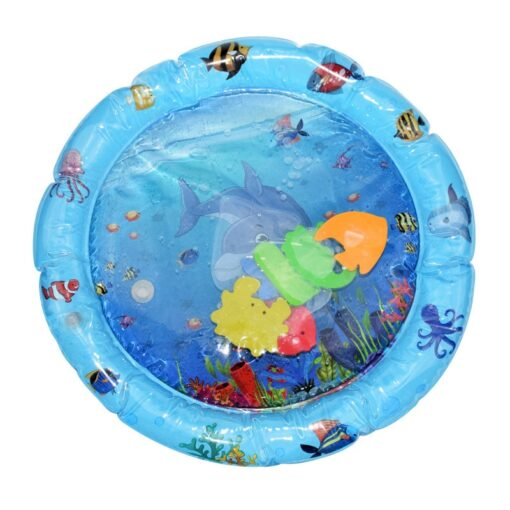 Baby Play Water Mat Inflatable Water Play Mat Infants Toddlers Fun Summer Time Play Activity Center 4