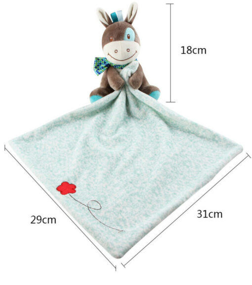 Baby Plush Soothing Toys Security Blanket Baby Toys Towel Cute Deerlet Dog Elephant Animal Doll Comforter 3