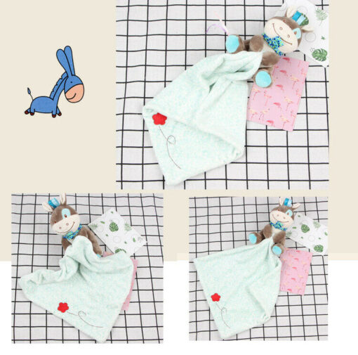 Baby Plush Soothing Toys Security Blanket Baby Toys Towel Cute Deerlet Dog Elephant Animal Doll Comforter 4