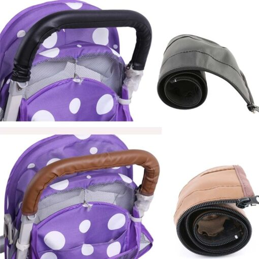 Baby Pram Stroller Armrest Cover Case PU Leather Protective Cover For Armrest Handle Wheelchairs Foldable And 1