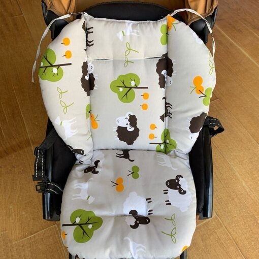 Baby Printed Stroller Pad Seat Warm Cushion Pad Mattresses Pillow Cover Child Carriage Cart Thicken Pad 5