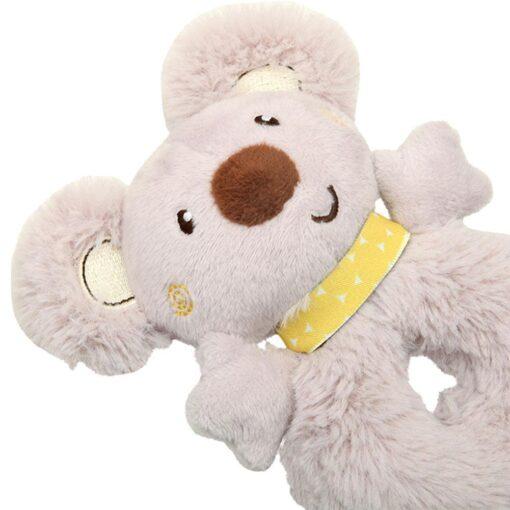 Baby Rattle Animal Koala Hand Ring Plush Toy Soft And Comfortable Fabric Cute Koala Image Staying 1