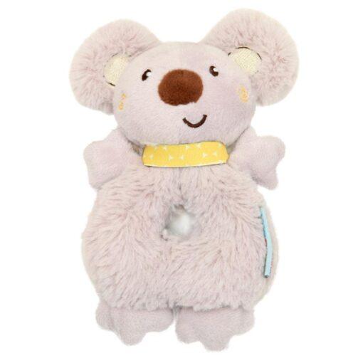 Baby Rattle Animal Koala Hand Ring Plush Toy Soft And Comfortable Fabric Cute Koala Image Staying 4