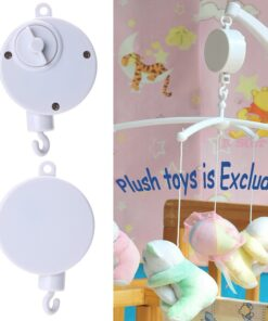 Baby Rattle Music Box Rotary Baby Mobile Crib Bed Toy Clockwork Movement Music Box Bedding Toy