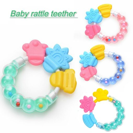 Baby Rattle Teethers Baby Silicone Teethers Baby Molar Teeth Fixing Device Bite Molar Molar Stick Bite 1