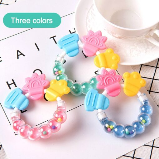 Baby Rattle Teethers Baby Silicone Teethers Baby Molar Teeth Fixing Device Bite Molar Molar Stick Bite 2