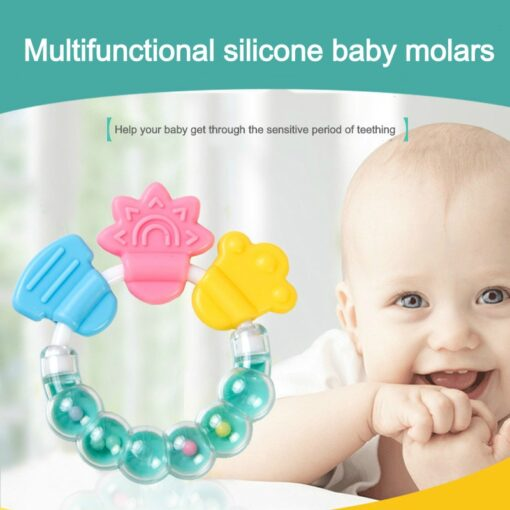 Baby Rattle Teethers Baby Silicone Teethers Baby Molar Teeth Fixing Device Bite Molar Molar Stick Bite