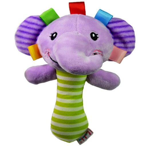 Baby Rattles Animal Handbell Newborn Boys Girls Infant Soft Cute Animal Doll for Kids Baby Education 4