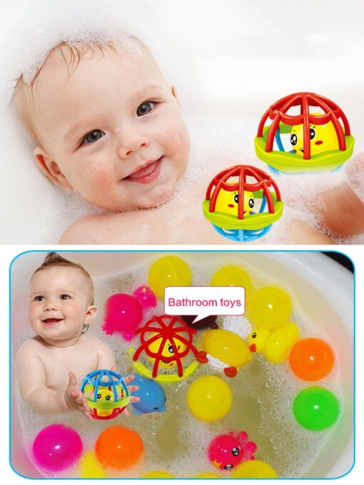 Baby Rattles Baby Toys Little Bell Ball Rattles Grasping Mobile Toy Hand Knocking Rattle Dumbbell Early 4